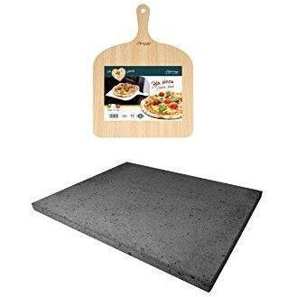 Eppicotispai - Pizza Peel And Stone Set (Mount Etna Lava Stone)-Consiglio's Kitchenware