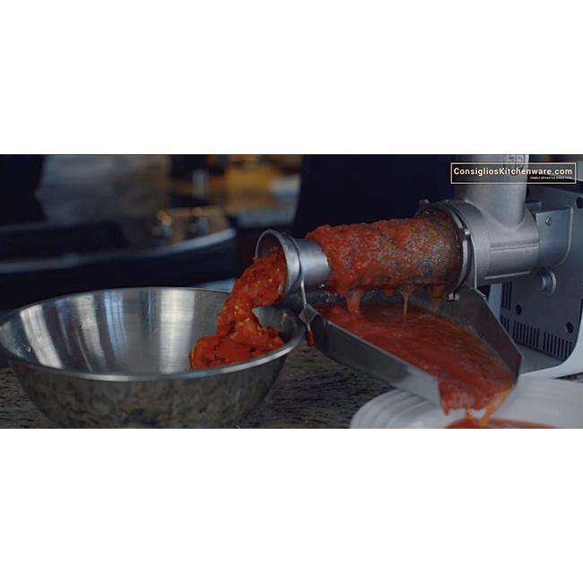 Fabio Leonardi MR10 1.5HP SP5 Tomato Machine + 32 Meat Grinder Attachment Combo-Consiglio's Kitchenware