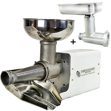 Fabio Leonardi MR8 0.5 HP SP3 Tomato Machine + TC12 Meat Grinder Combo-Consiglio's Kitchenware