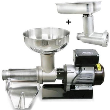 Fabio Leonardi MR9 1HP SP5 Tomato Machine + # 22 Meat Grinder Attachment Combo-Consiglio's Kitchenware