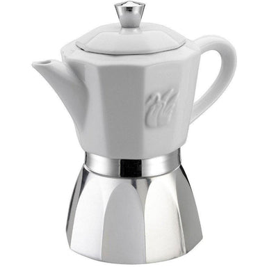 GAT Chic Ceramic Top 6 or 4 Cup Espresso Maker-Consiglio's Kitchenware