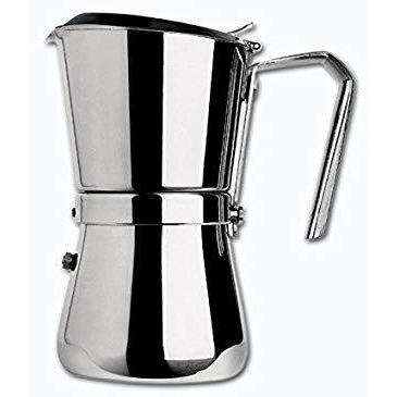 Giannina 9 cup Stainless Steel Stove Top Espresso Maker-Consiglio's Kitchenware