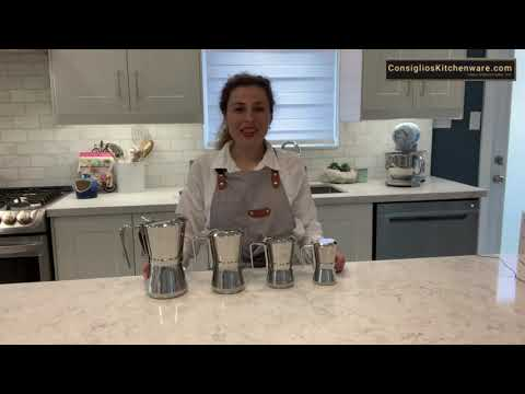 Giannina 6 Cup Stainless Steel Stovetop Espresso Maker Restyled Version Demo Video