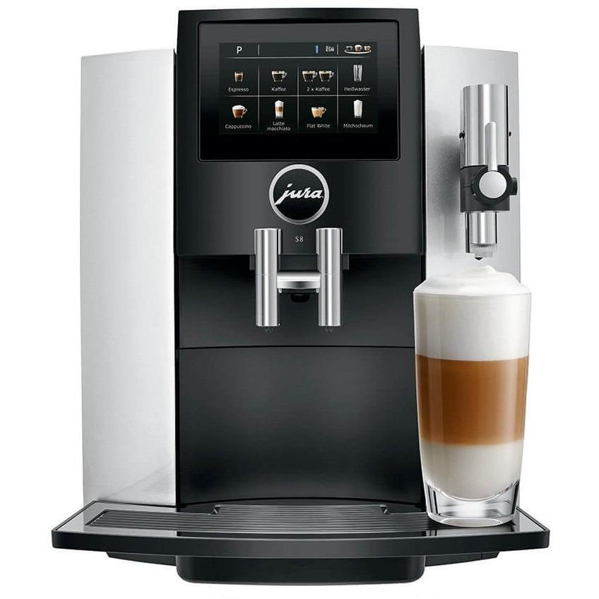 Jura S8 Moonlight Silver Espresso Machine-Consiglio's Kitchenware