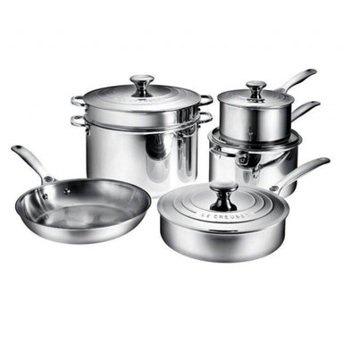 Le Creuset 10 Piece Stainless Steel Set (New Design)-Consiglio's Kitchenware