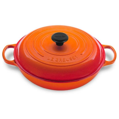 Le Creuset 3.5 L Flame Orange Shallow Braiser (30 cm)-Consiglio's Kitchenware