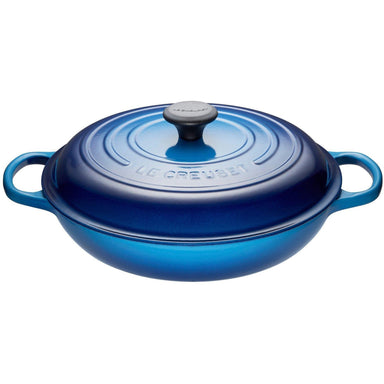 Le Creuset 3.5L Blueberry Shallow Braiser (30 cm)-Consiglio's Kitchenware