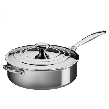 Le Creuset 4.3L/4.5qt Stainless Steel Saute Pan (26 cm)-Consiglio's Kitchenware