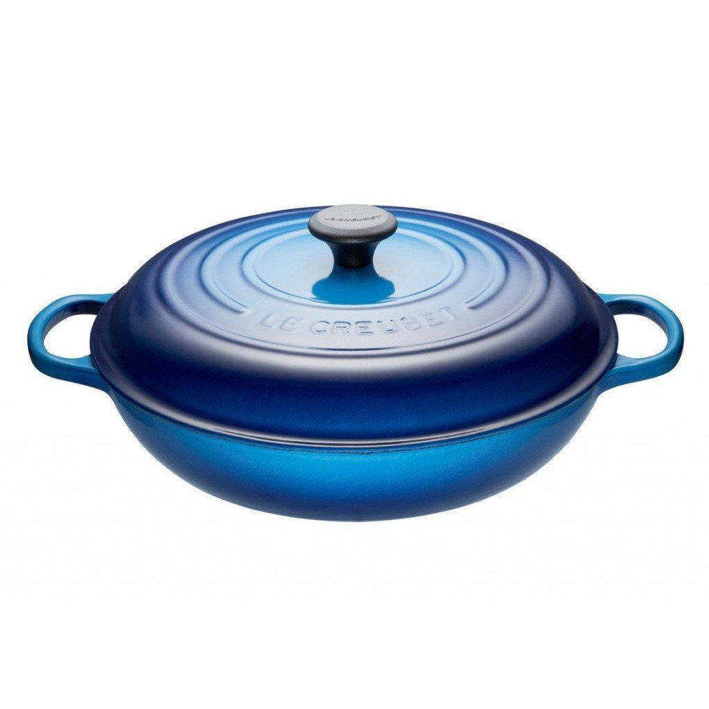 Le Creuset 4.7L Blueberry Shallow Braiser (32 cm)-Consiglio's Kitchenware