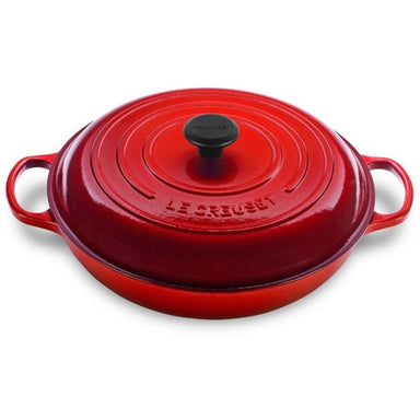 Le Creuset 4.7L Cherry Red Shallow Braiser (32 cm)-Consiglio's Kitchenware