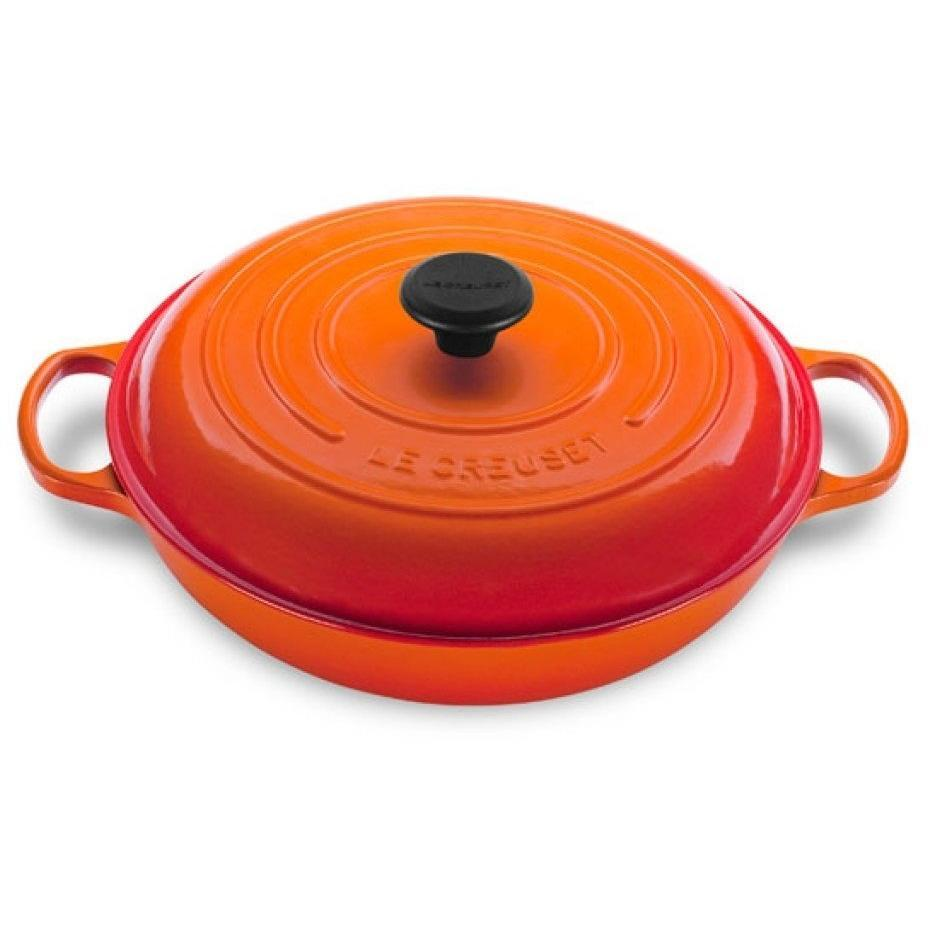 Le Creuset 4.7L Flame Orange Shallow Braiser (32 cm)-Consiglio's Kitchenware