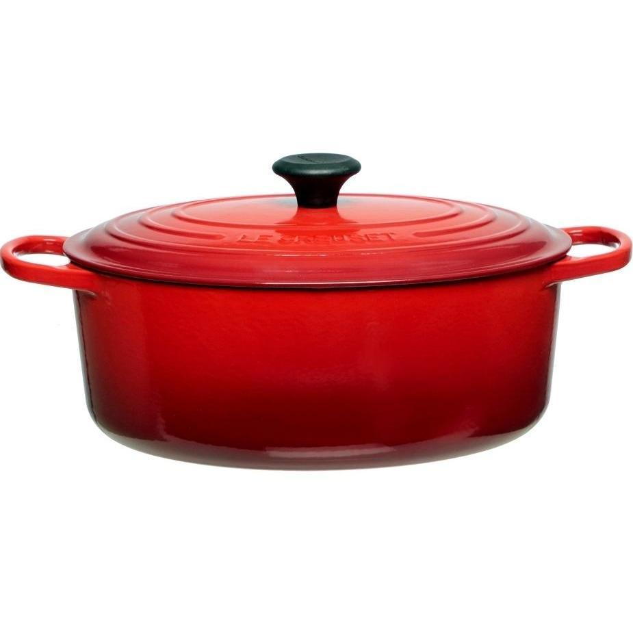 Le Creuset 6.3L Cherry Red Oval French/Dutch Oven (31 cm)-Consiglio's Kitchenware