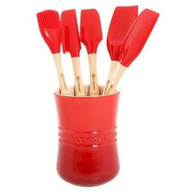 Le Creuset - Cherry Red Revolution Utensil Set-Consiglio's Kitchenware