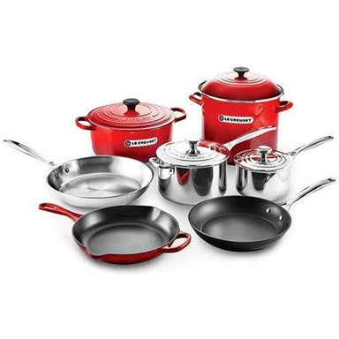 Le Creuset - Cherry Red Ultimate Cookware Set-Consiglio's Kitchenware