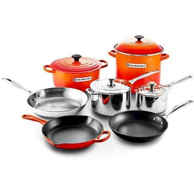 Le Creuset - Flame Orange Ultimate Cookware Set-Consiglio's Kitchenware