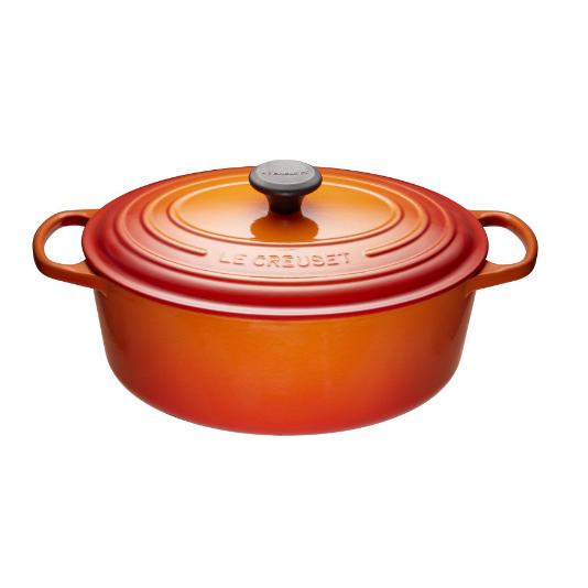 Le Creuset 4.7L Flame Oval French/Dutch Oven (29 cm) -LS2502-292