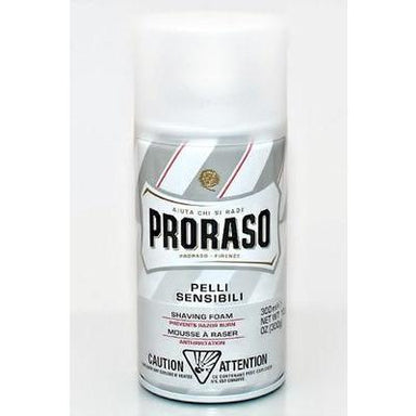 Proraso Shaving Cream 300ml Spray Can (For Sensitive Skin w/ Tea and Oat Extract)-Consiglio's Kitchenware