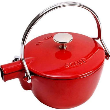 Staub - 1L Cherry Red Tea Kettle (16.5cm)-Consiglio's Kitchenware