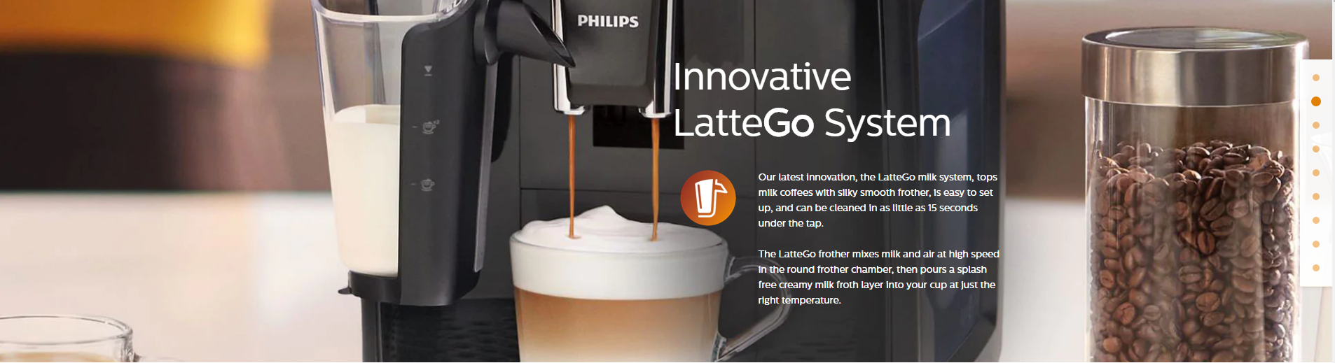 Philips Saeco 3200 Lattego Fully Automatic Espresso Machine - EP3241/54