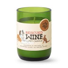 Rescued Wine Pet Candle