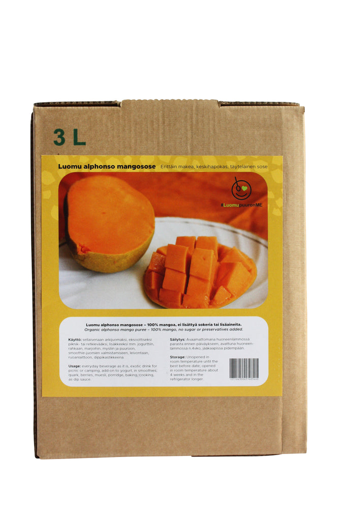 Mangosose Alphonso, 3L Bag-In-Box, Luomu