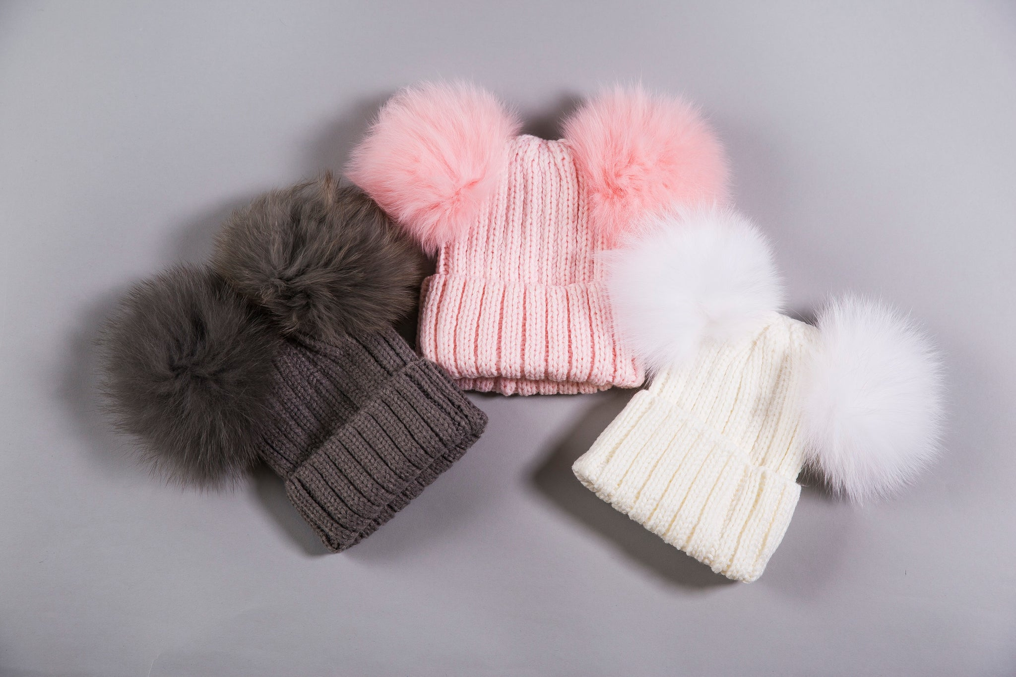 01a5d261a6c96 Cashmere Blend Double Pom Pom Knitted Hat — Dew Bees