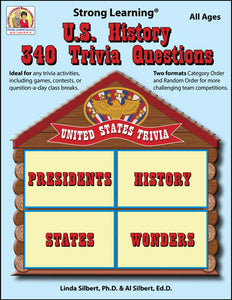 U.S. History 340 Trivia Questions - 306D - Digital Download