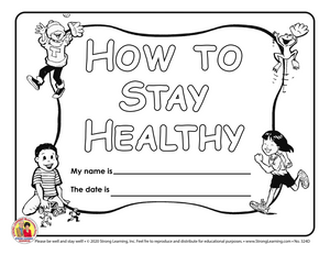 How to Stay Healthy Coloring Book - COVID-19 - Distance Learning - 342D