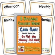 3 Syllable Challenge Words (Ages 8-11+) C131