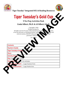 CVC -9 No Prep Lessons & Activities - Tiger Tuesday's Gold Cup - Digital Download - 6017D
