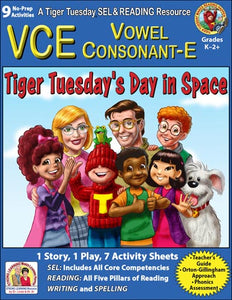 VCE - 9 No Prep Lessons & Activities - Tiger's Day in Space - Digital Download - 6026D