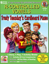 R-Controlled Vowels - 9 No Prep Lessons & Activities - Trudy's Cardboard Piano - Digital Download - 6045D
