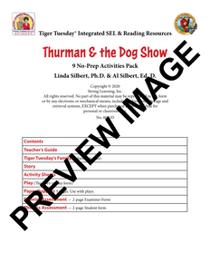 Diphthongs - 9 No Prep Lessons & Activities - Thurman and the Dog Show - Digital Download - 6051D