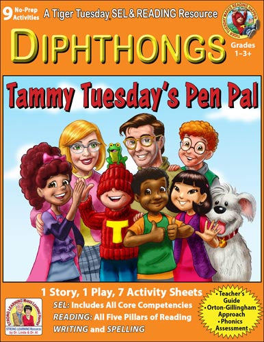 Diphthongs - 9 No Prep Lessons & Activities - Tammy's Pen Pal - Digital Download - 6052D