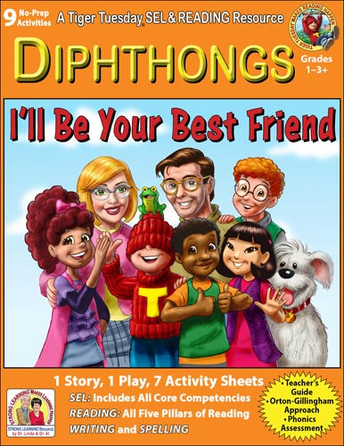 Diphthongs - 9 No Prep Lessons & Activities - I'll Be Your Best Friend - Digital Download - 6053D