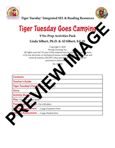 Diphthongs - 9 No Prep Lessons & Activities - Tiger Goes Camping - Digital Download - 6056D