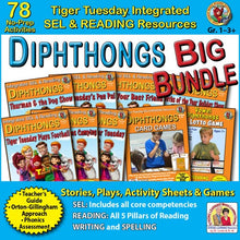 Diphthongs Big Bundle - 78 No Prep Lessons & Activities - Digital Download - 605BD