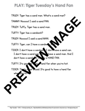CVC - 9 No Prep Lessons & Activitie - Tiger Tuesday's Hand Fan - Digital Download - 6015D