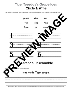 VCE - 9 No Prep Lessons & Activities - Tiger's Grape Ices - Digital Download - 6023D