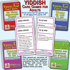 Yiddish SuperDeck Card Games for Adults-4 deck pack--Save 10%--A120Y