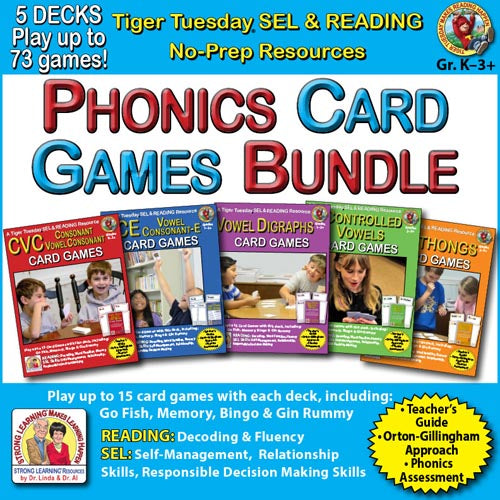 Phonics SuperDeck Card Games Big Bundle - SEL, Distance Learning - A224D