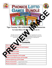 Phonics Lotto Learning Activities Bundle - Digital Download - A225D