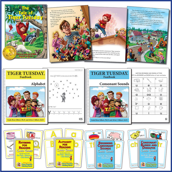Learn-to-Read Kit-1: Rhyming, Alphabet & Consonant Sounds * SAVE an additional 10% plus FREE US SHIPPING-A575 [Ages 4-5+]