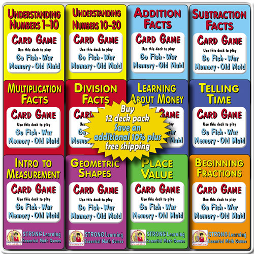 Math SuperDeck 12-Pack * SAVE an additional 10% plus FREE US SHIPPING-A613S