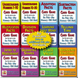 Math SuperDeck 12-Pack * SAVE an additional 10% plus FREE SHIPPING-A613S