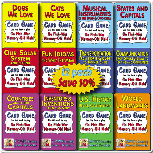 General Knowledge SuperDeck 12-Pack * SAVE 10%-A615S