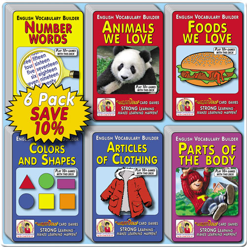 Vocabulary Builders SuperDeck 6-Pack * SAVE 10%-A6166u