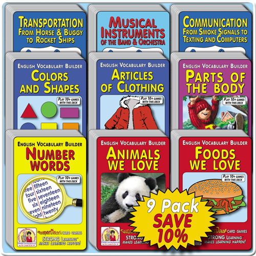 Vocabulary Builders SuperDeck 9-Pack * SAVE 10%-A6169u