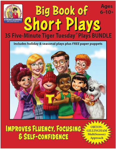 Big Book of Short Plays - 35 Five-Minute Tiger Tuesday Reading Program Plays - Digital Download
