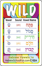 Hebrew Vowels 1a (text & picture hints) C102A